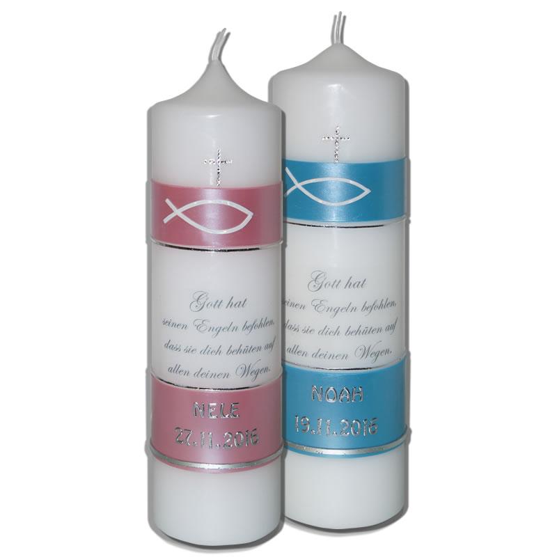 Taufkerze mit Spruch | Kerzen-Stüberl