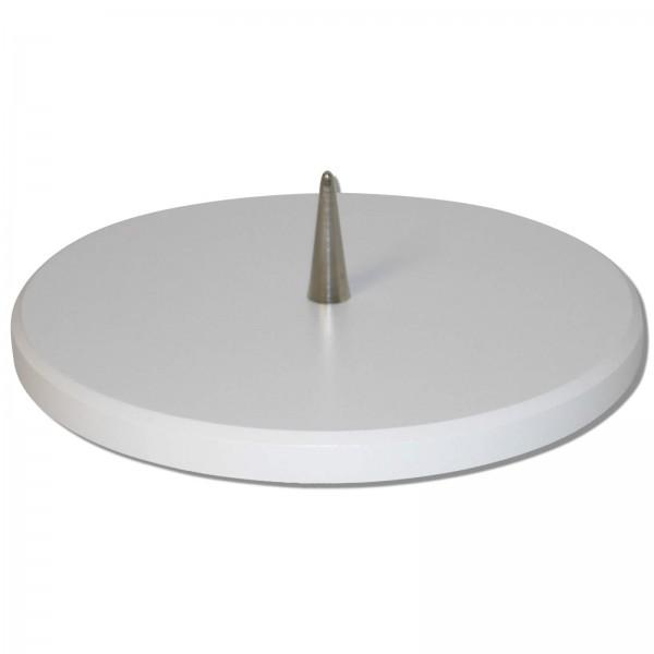 Buchenholzleuchter - Weiß | 14 cm mit Dorn