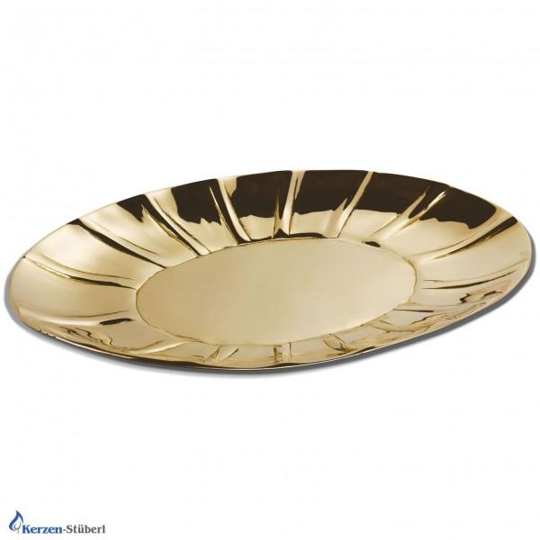 Kerzenteller Gold