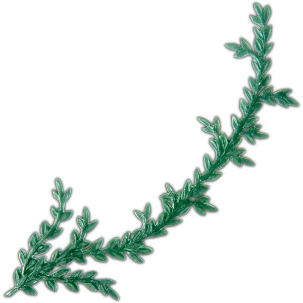 Verzierwachsornament-Wachsdekor - Grüner Zweig