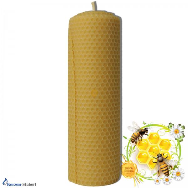 Bienenwachskerze-gerollt-Wabenkerze Test