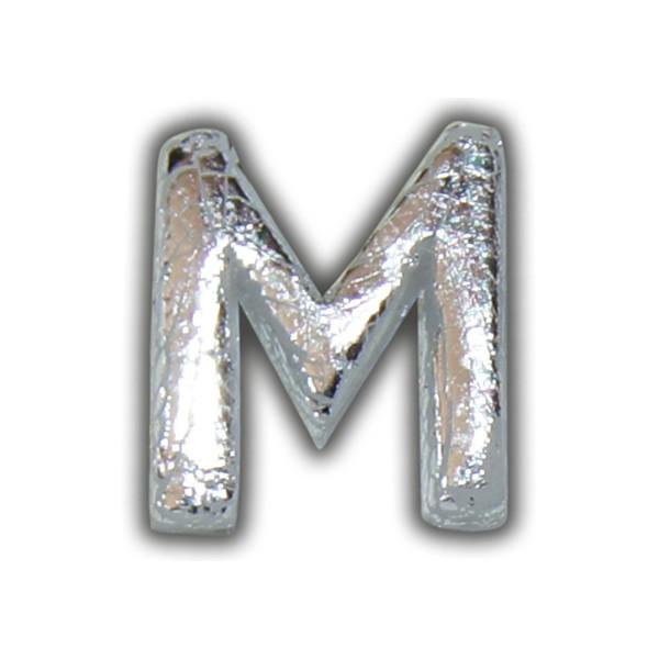 "Buchstabe-Wachs ""M"" in Silber zum Kerzen beschriften Test"