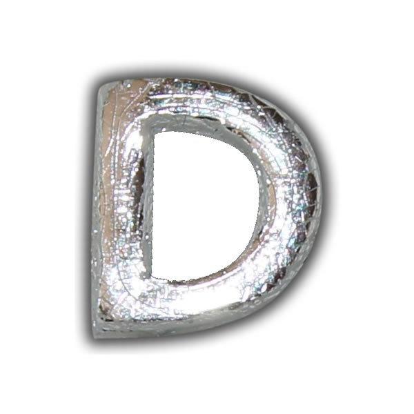 """Echtwachsbuchstabe """"D"""" Silber-Klassische Schrift"""