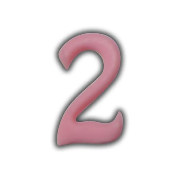 Einzelne Wachszahlen-Rosa-Pink #2 Test