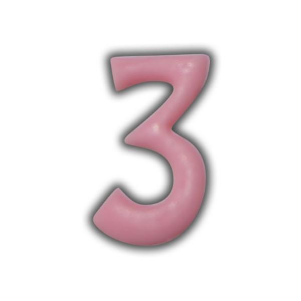 Einzelne Wachszahlen-Rosa-Pink #3 Test