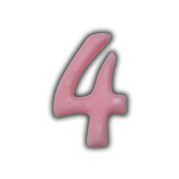 Einzelne Wachszahlen-Rosa-Pink #4 Test