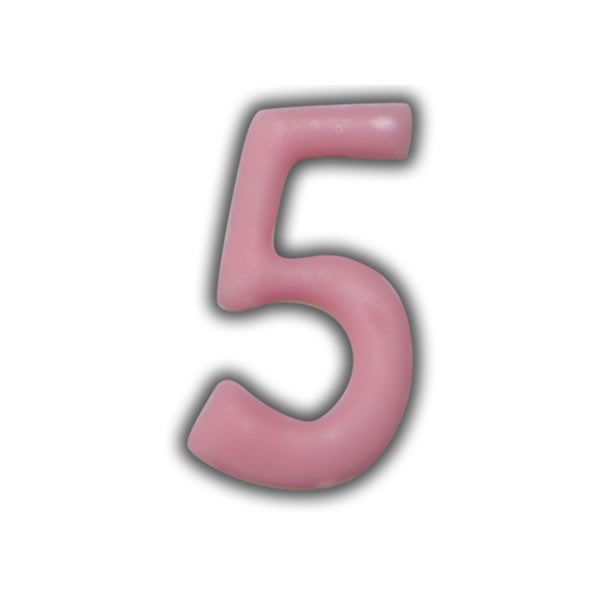 Einzelne Wachszahlen-Rosa-Pink #5 Test