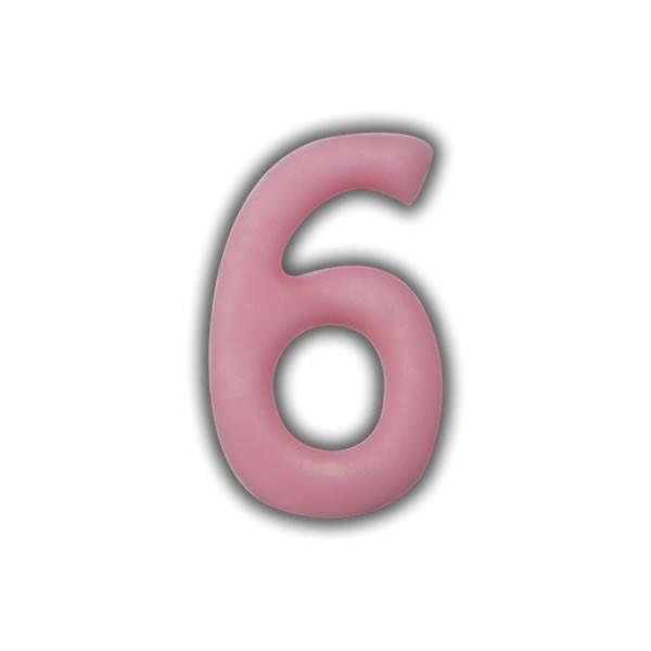 Einzelne Wachszahlen-Rosa-Pink #6 Test