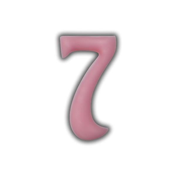 Einzelne Wachszahlen-Rosa-Pink #7 Test
