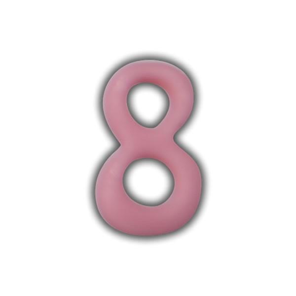 Einzelne Wachszahlen-Rosa-Pink #8 Test