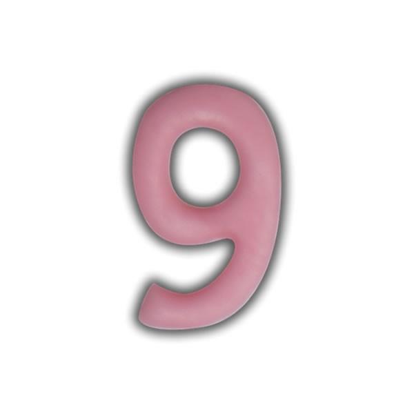 Einzelne Wachszahlen-Rosa-Pink #9 Test