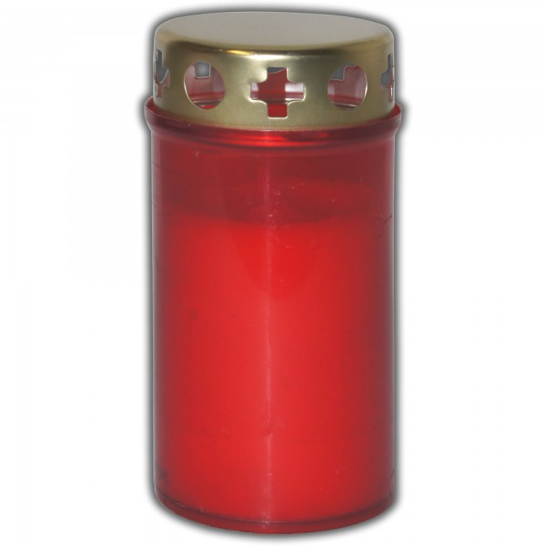 Grablicht mit Deckel-Rot
