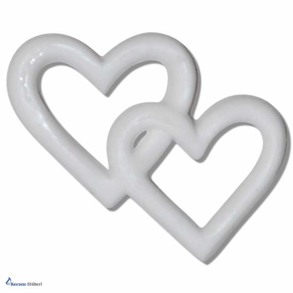 Verzierwachsornament Doppelherz-Herzchen