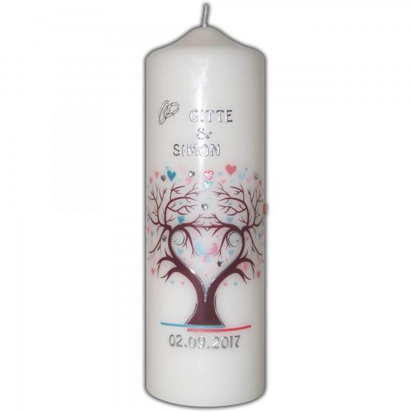 Hochzeitskerze-Brautkerze | Herz-Lebensbaum