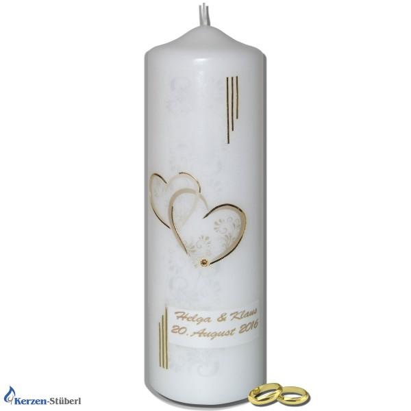 Hochzeitskerze | Modern-Klassisch-Traditionell-Gold
