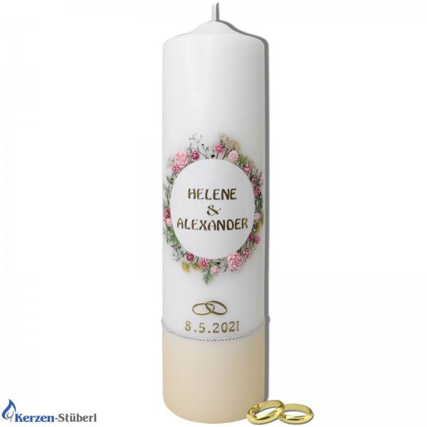Hochzeitskerze-Vintage-Blütenkranz Test