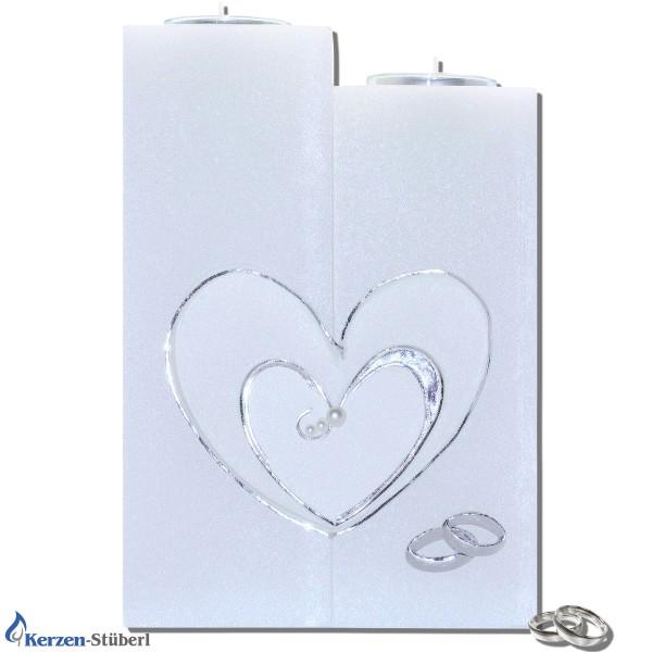 Moderne Hochzeitskerze - Herz Test