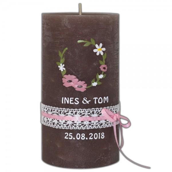 Vintage Hochzeitskerze-Brautkerze