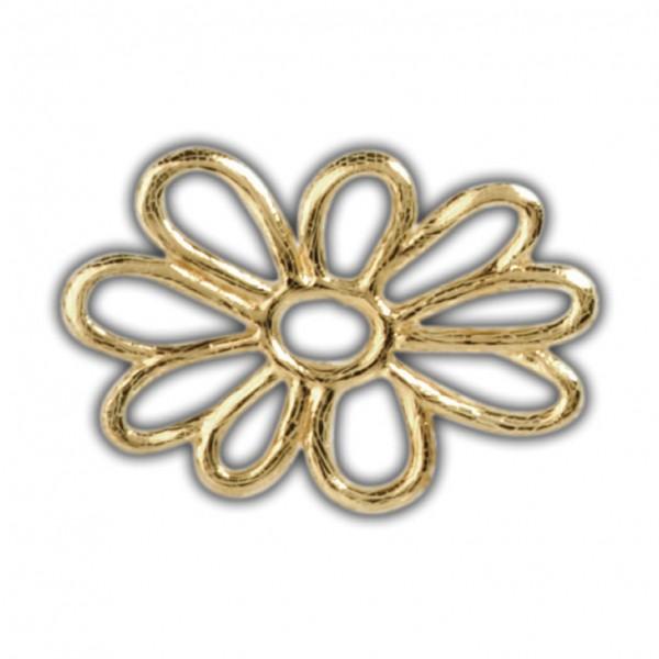 Verzierwachs-Wachsdekor-Blüte in Gold zum Kerzen basteln