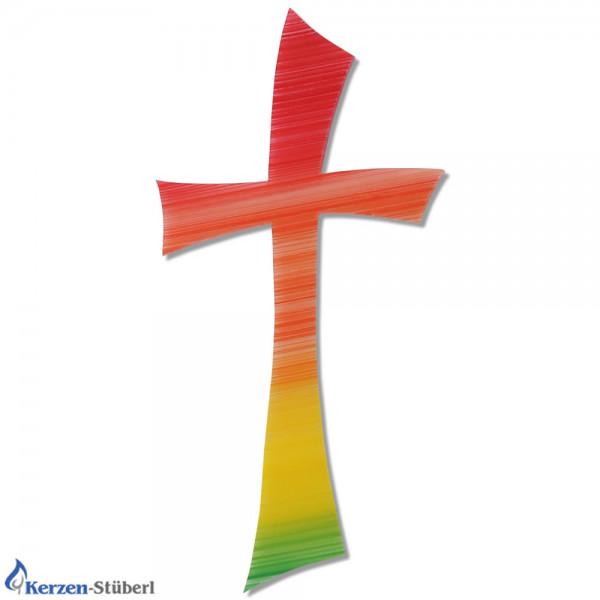 Wachs-Kreuz-Regenbogen-Kerzen basteln