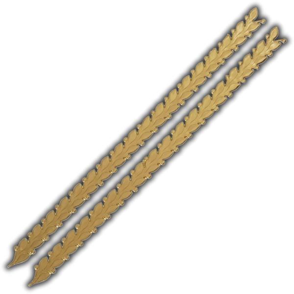 """Verzierwachsstreifen """"Blätterranke"""" Gold Test"""