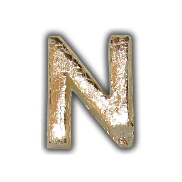"""Wachsbuchstabe """"N"""" Gold-Modern Test"""