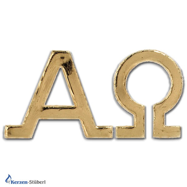 Alpha-Omega Große Ausführung Goldenes Wachs-Verziermaterial