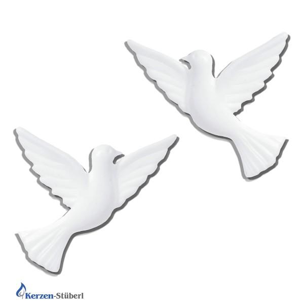 Verzierwachsornamente - Taubenpaar