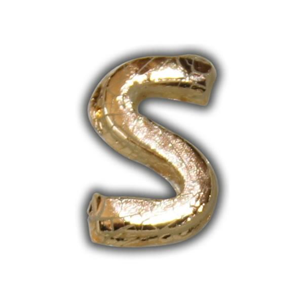 """Wachsbuchstabe """"S"""" Gold-Modern"""