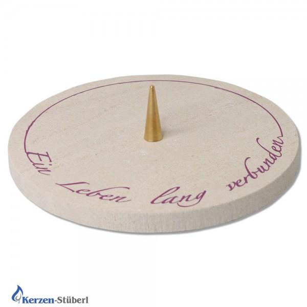 Kerzenhalter mit Schriftzug Test