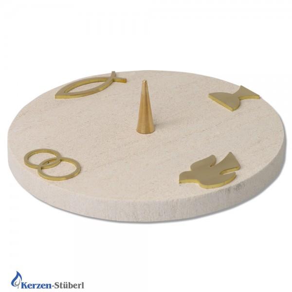 Kerzenhalter-Steinleuchter   Die vier Sakramente
