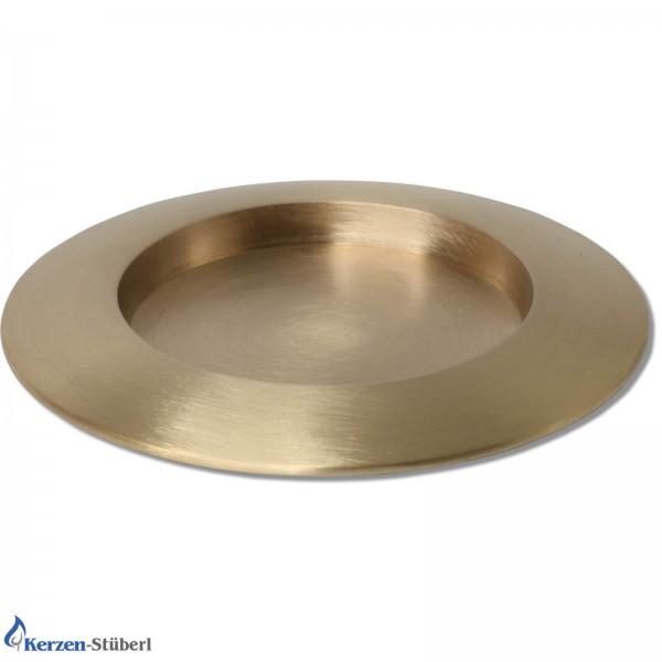 Kerzenhalter-Metall-Gold gebürstet