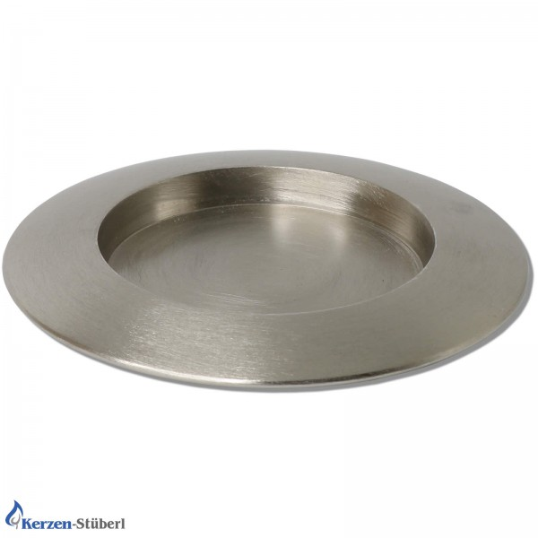 Kerzenhalter-Metall-Silber gebürstet