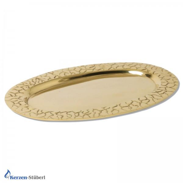 Kerzenteller für ovale Kerzen-Gold Test