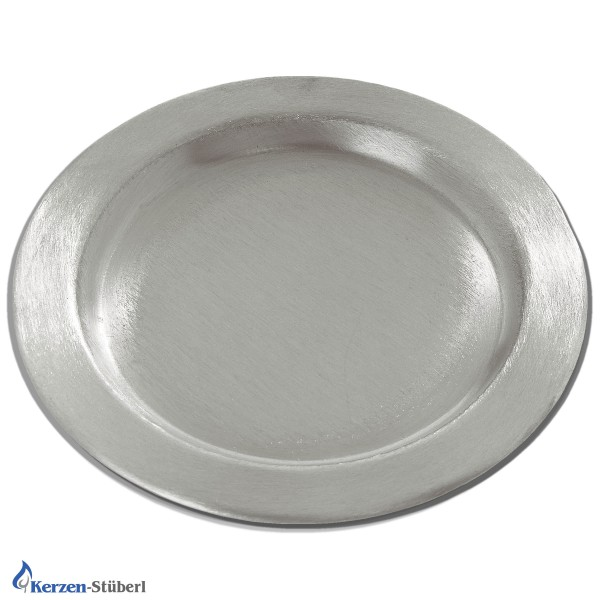 Kerzenteller Metall Silber