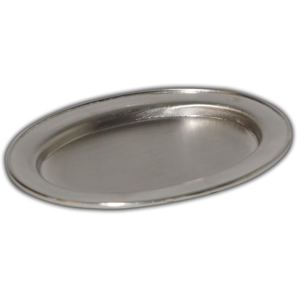 Kerzenteller-Silber-Matt
