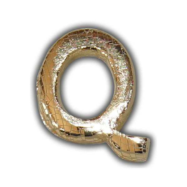 """Wachsbuchstabe """"Q"""" Gold-Modern Test"""