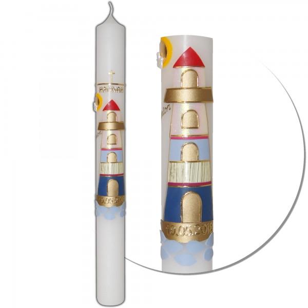 Kommunionkerze-Konfirmationskerze Leuchtturm