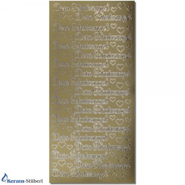 Konturensticker-Dein Schutzengel Gold Test