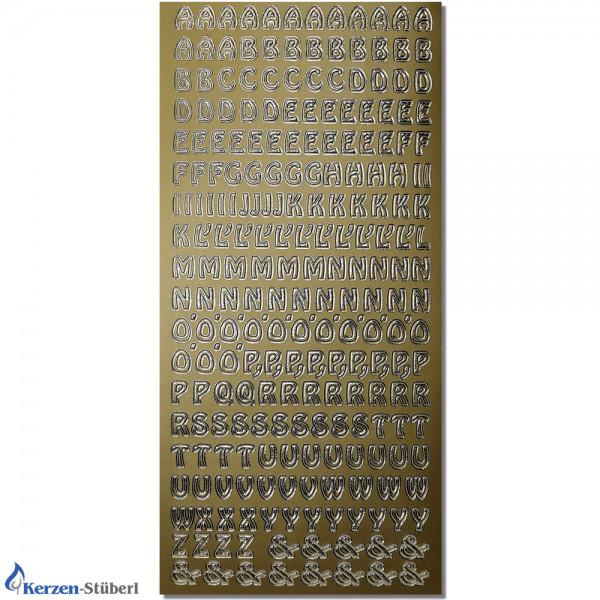 Konturensticker-Gold-Buchstaben Test