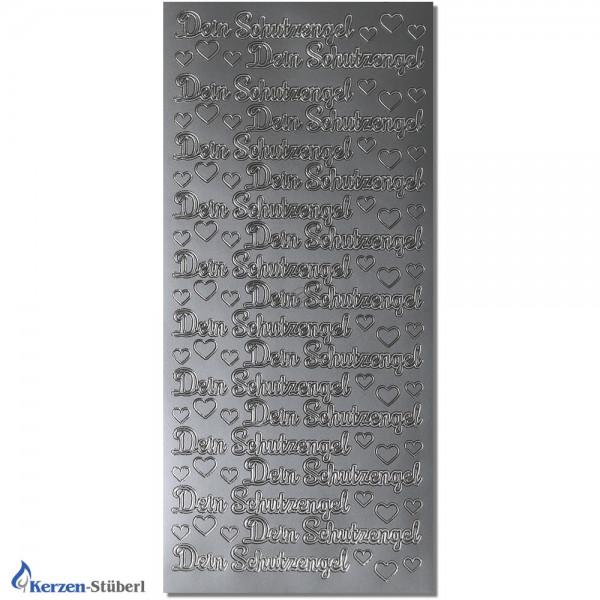 Konturensticker-Silber-Dein Schutzengel Test