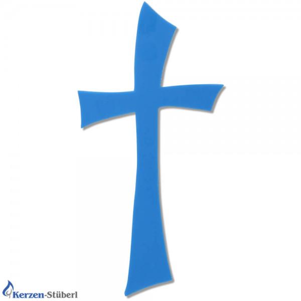 Kreuz-Wachs-Blau-Kerzen basteln Test