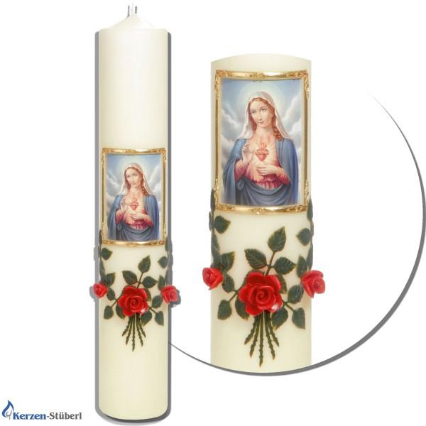 Marienkerze - Kerze Maria Mutter Gottes - Rote Rosen Test