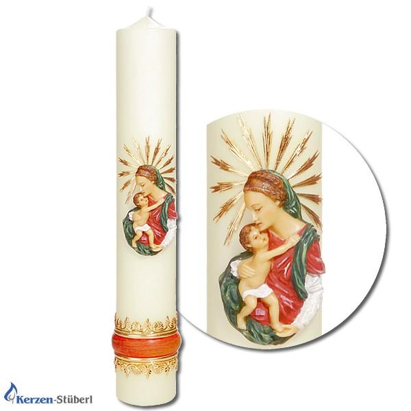 Marienkerzen - Strahlenmadonna - Religiöse Kerzen
