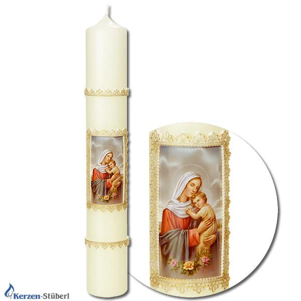 Mariankerzen - Religiöse Kerzen - Maria mit Kind
