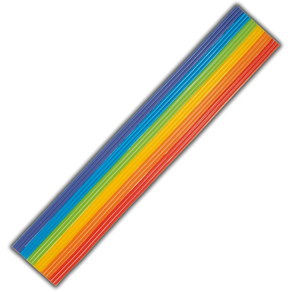 Wachsdekor-Wachsstreifen-Regenbogen Test