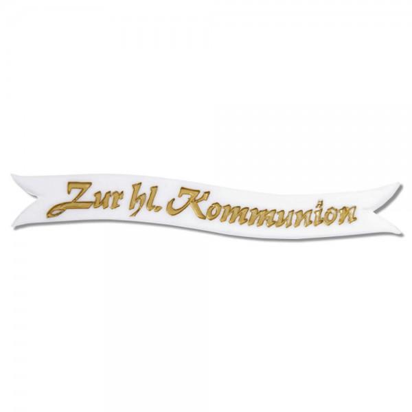Schriftzug Zur heiligen Kommunion Test