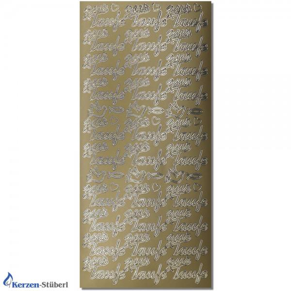 """Konturensticker-Gold """"Zur Taufe"""" Ornamente Test"""