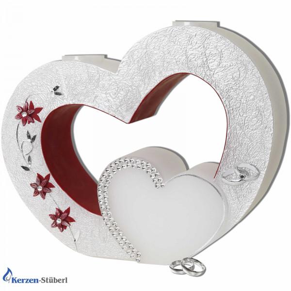 Hochzeitskerze - Herz mit Swarovski-Elements Test