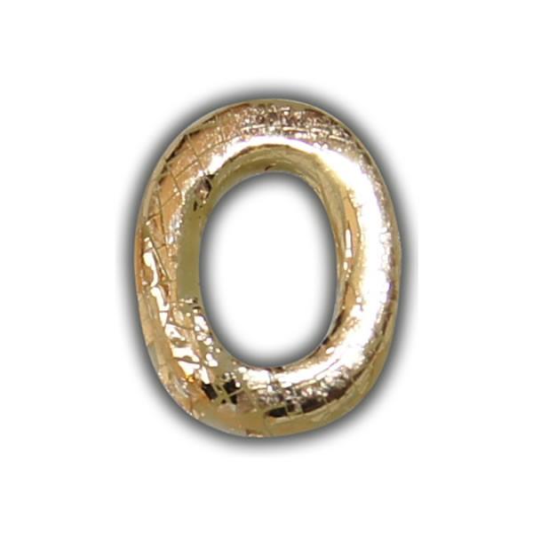 """Wachsbuchstabe """"O"""" Gold-Modern Test"""